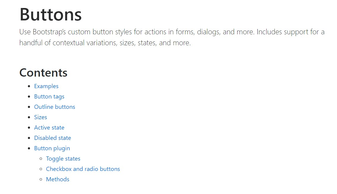 Bootstrap buttons  main  documents