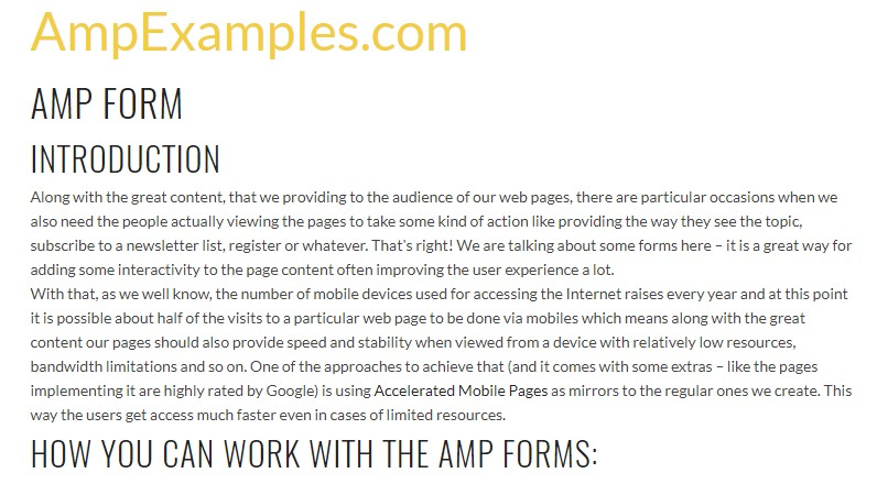 Let us  check out AMP project and AMP-form  component?