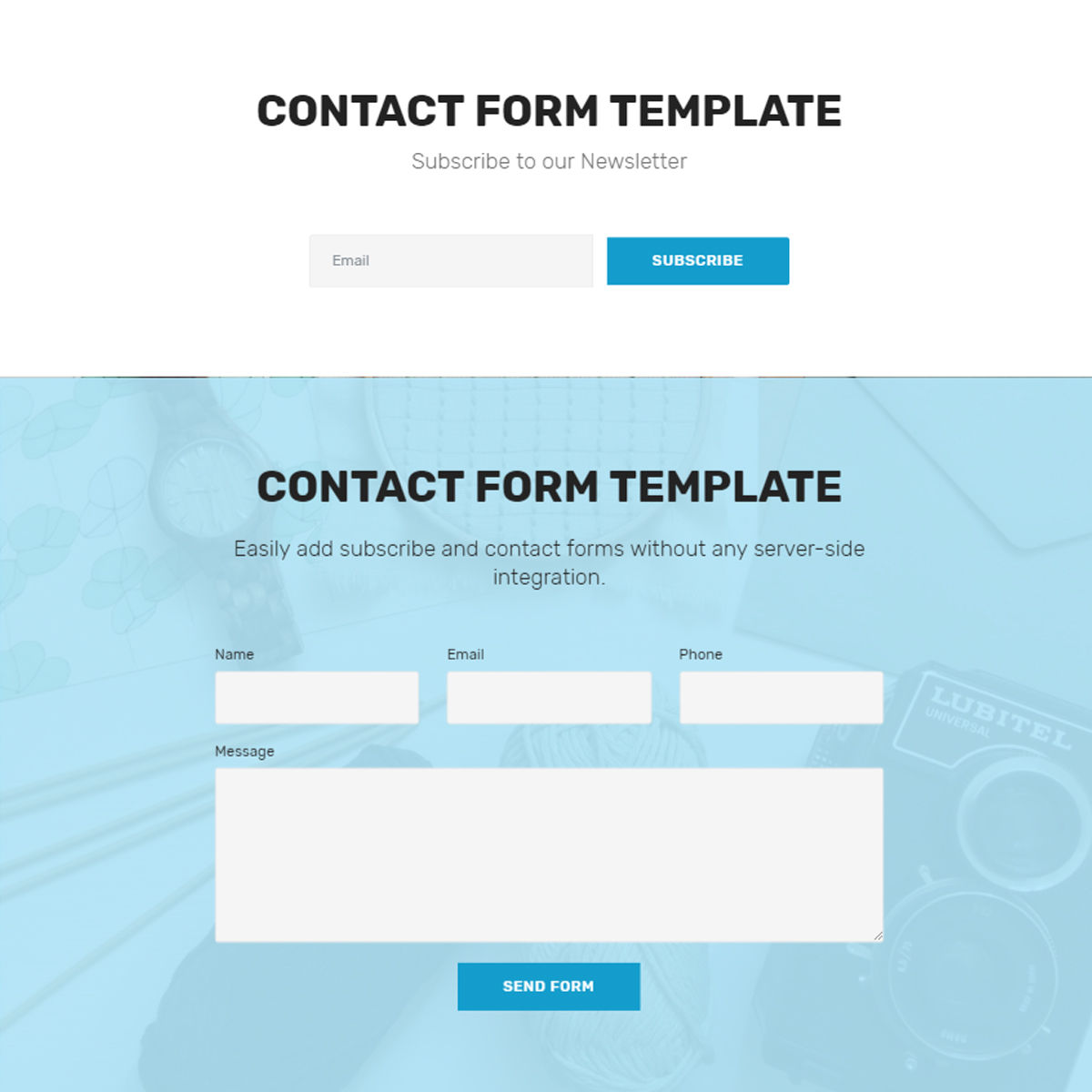 HTML Bootstrap  contact form  Templates