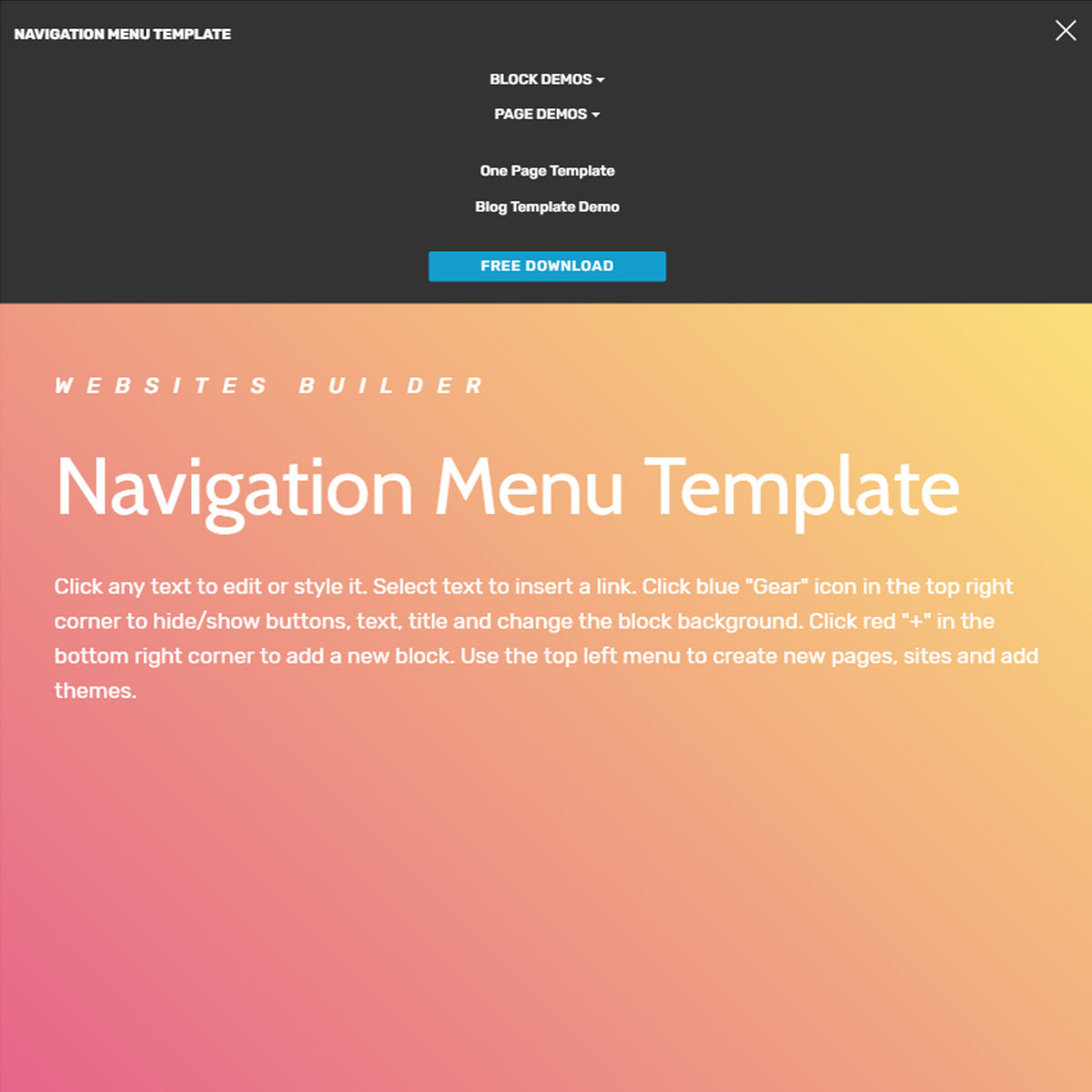 Free Download Bootstrap  navigation menu  Themes