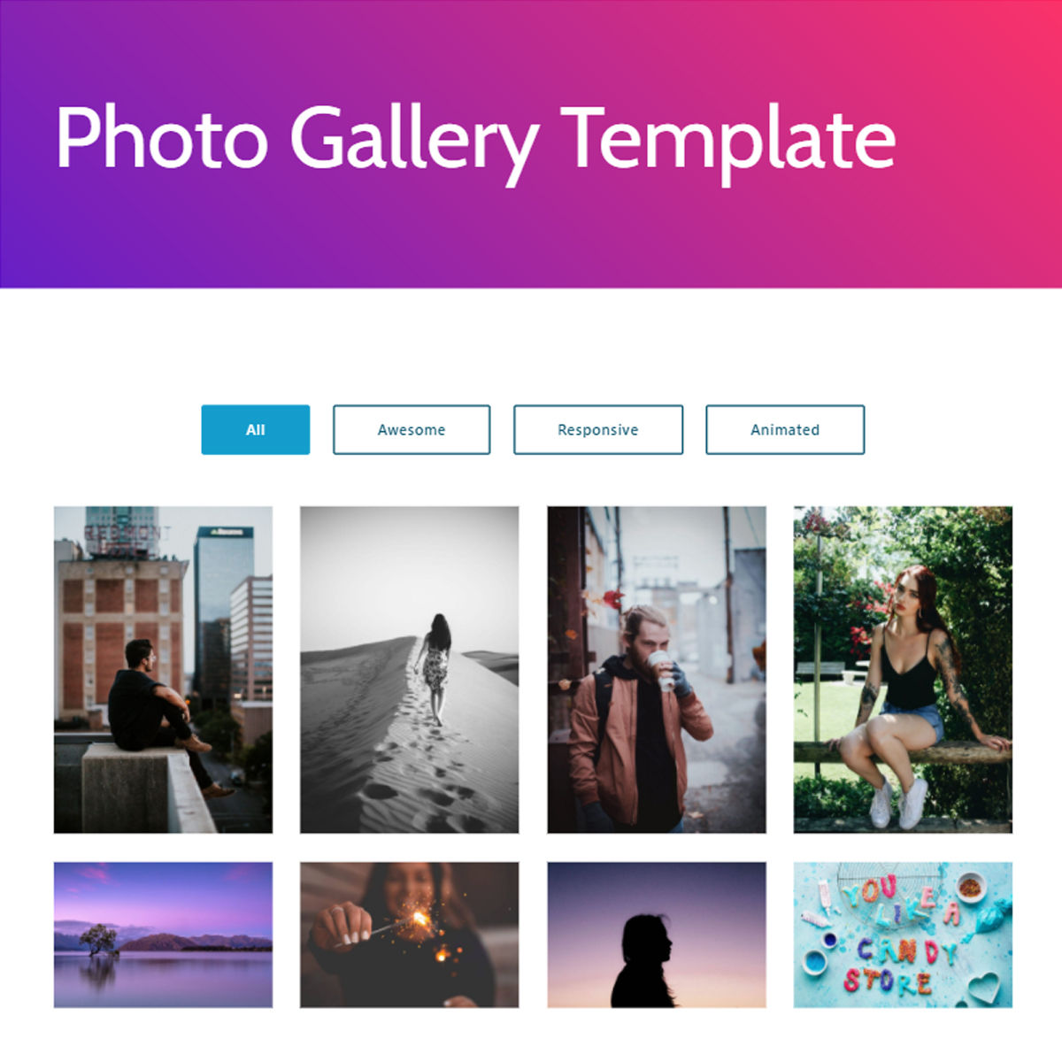 Free Download Bootstrap  photo gallery  Themes