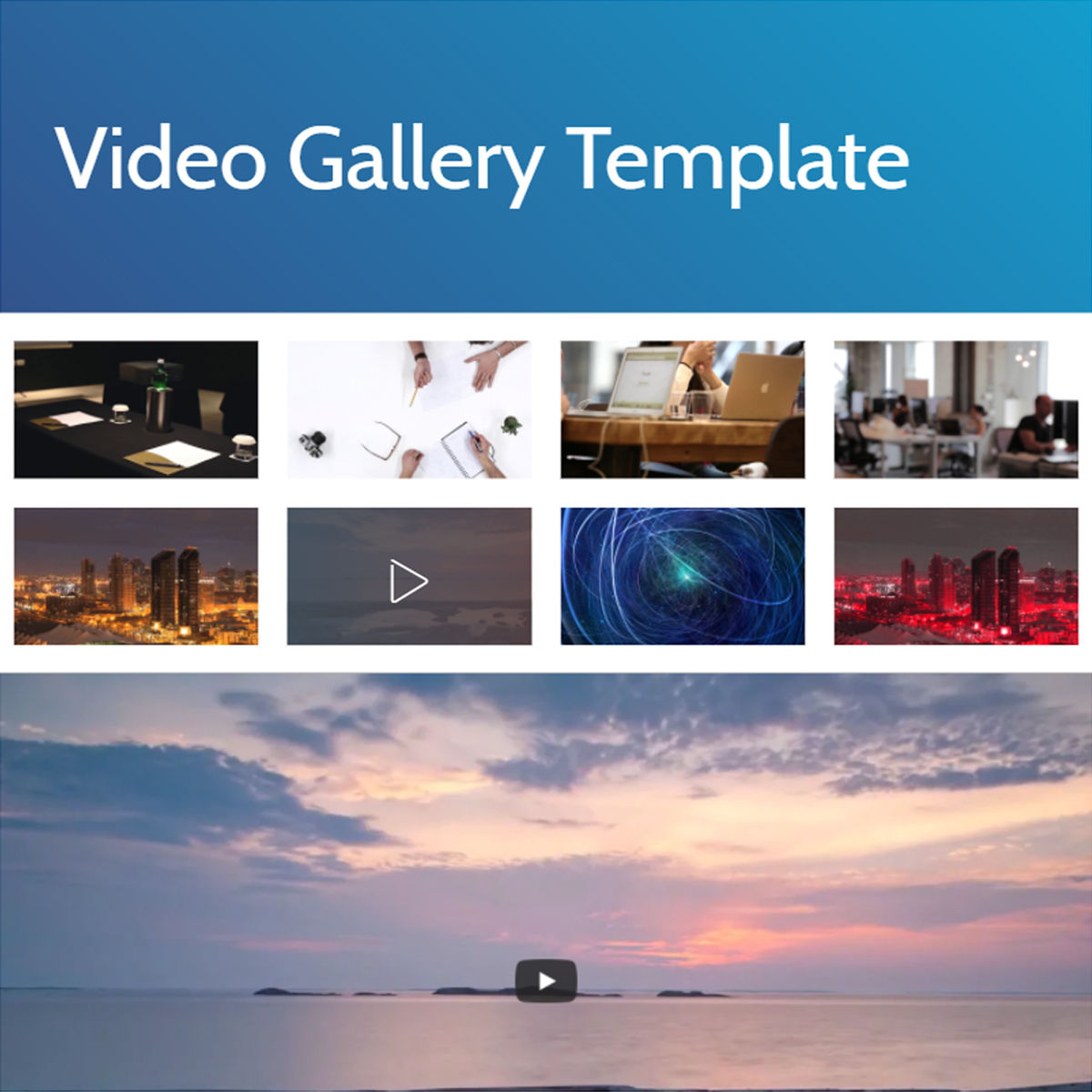 HTML Bootstrap  video gallery  Themes