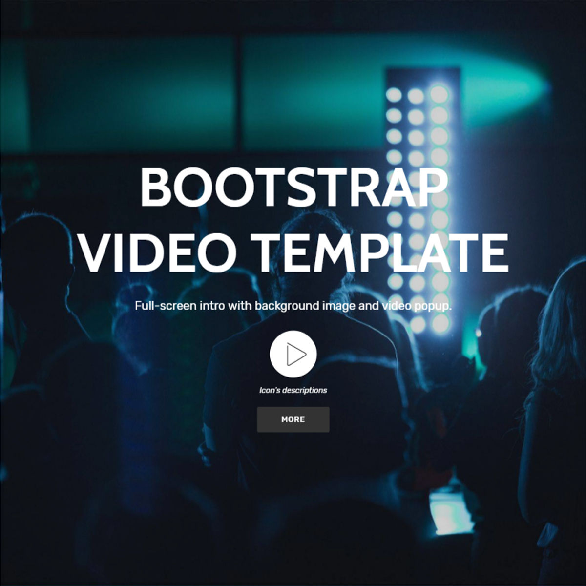 HTML Bootstrap  Video  Themes
