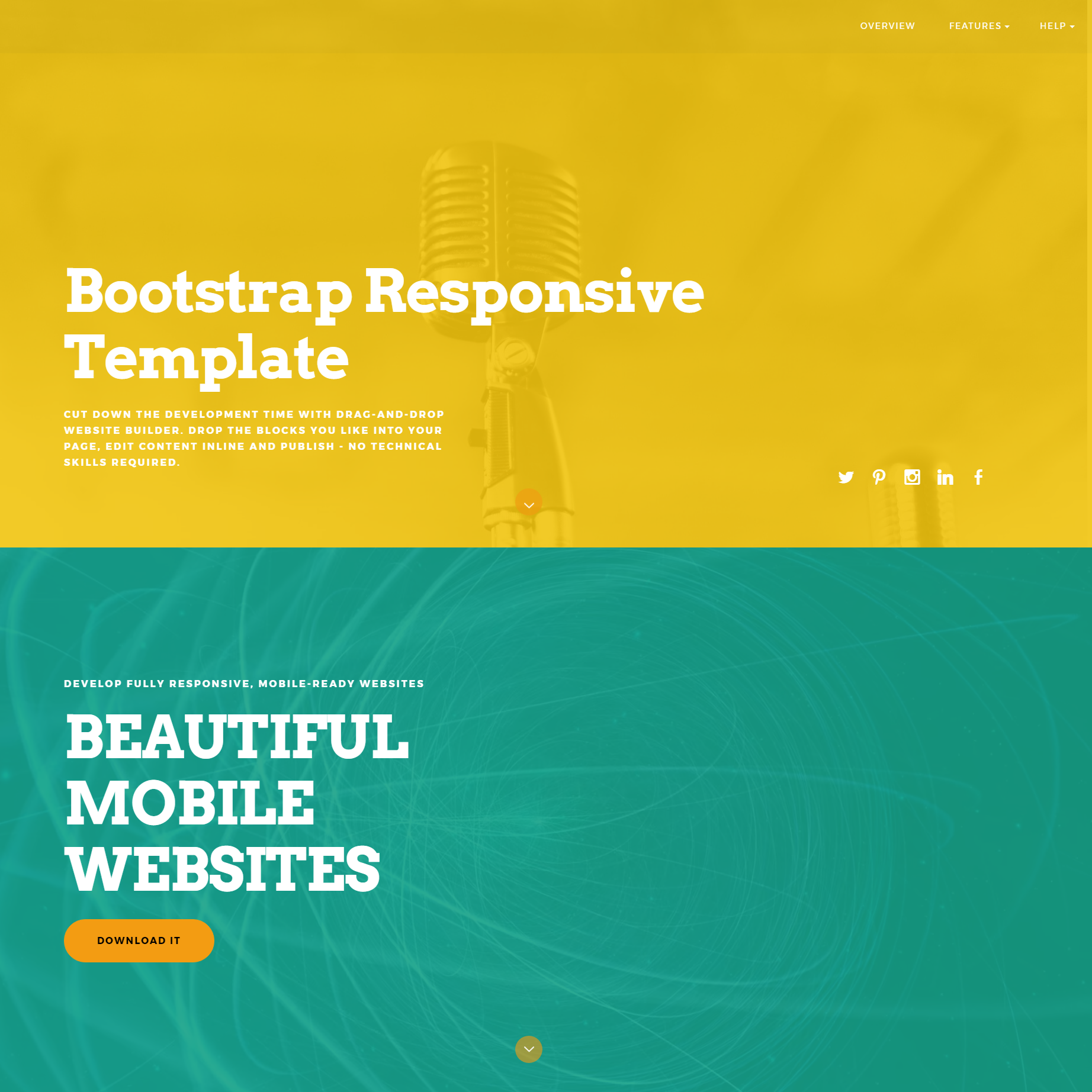 ColorM responsive Bootstrap theme