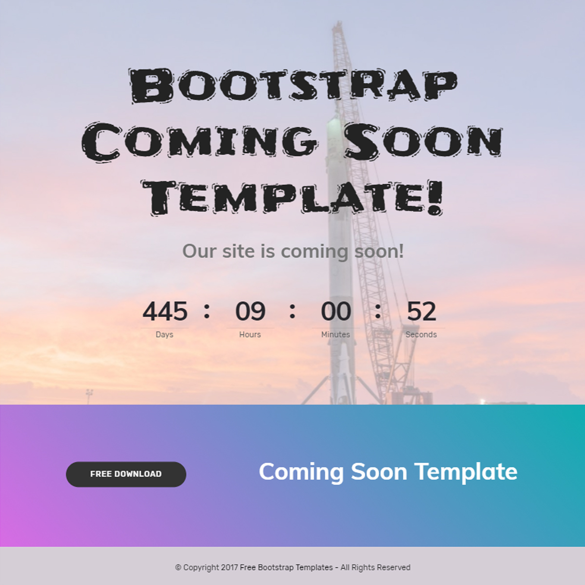 bootstrap coming soon template free template download