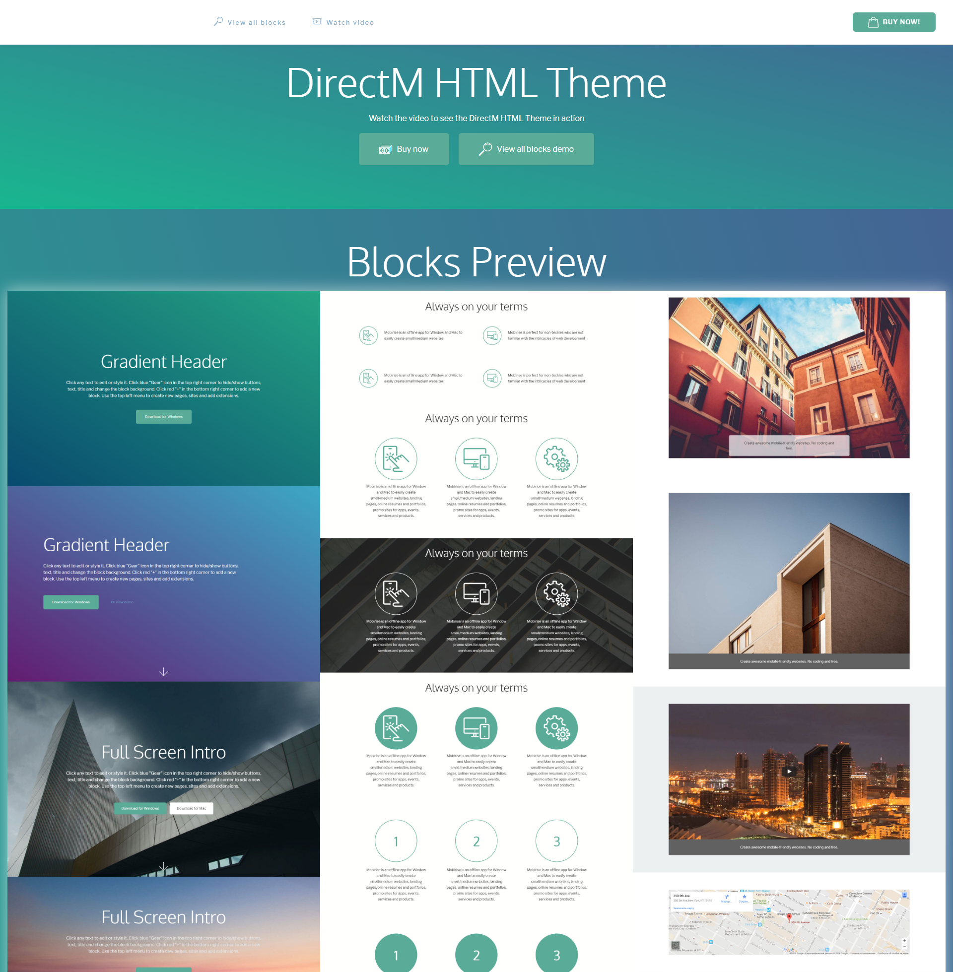 directm html bootstrap theme free template download