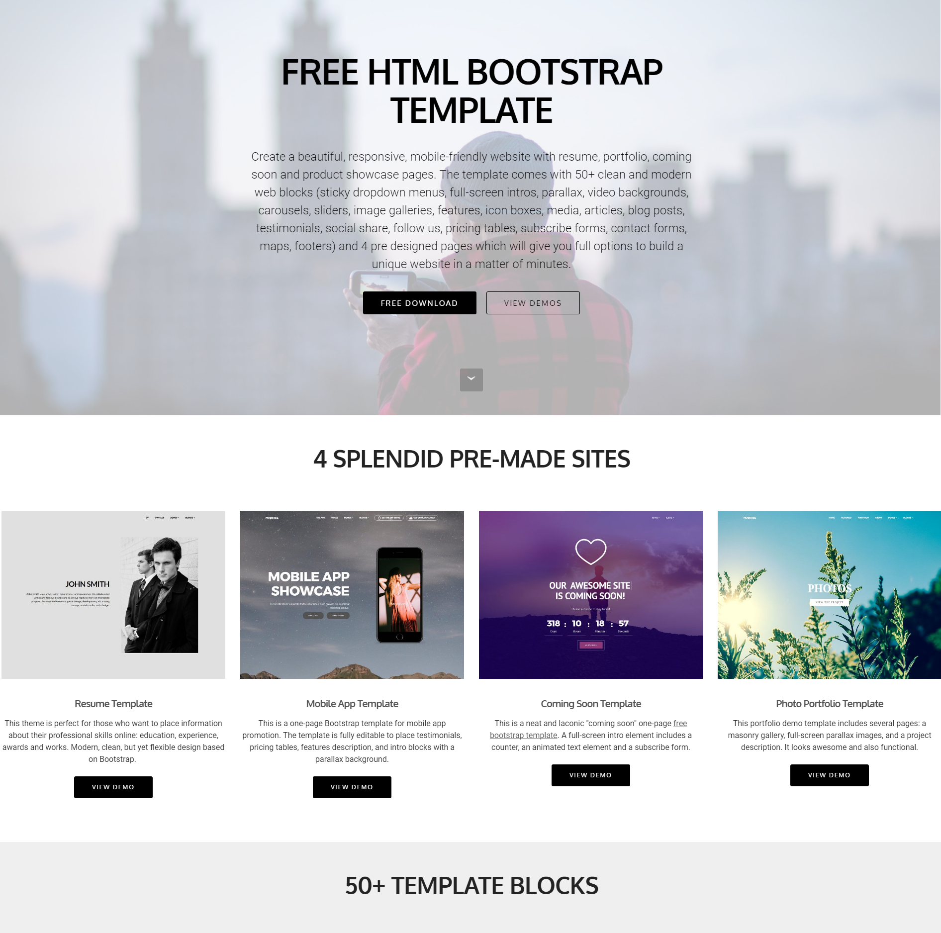 80 free bootstrap templates you can 39 t miss in 2018 for Free bootstrap templates 2017