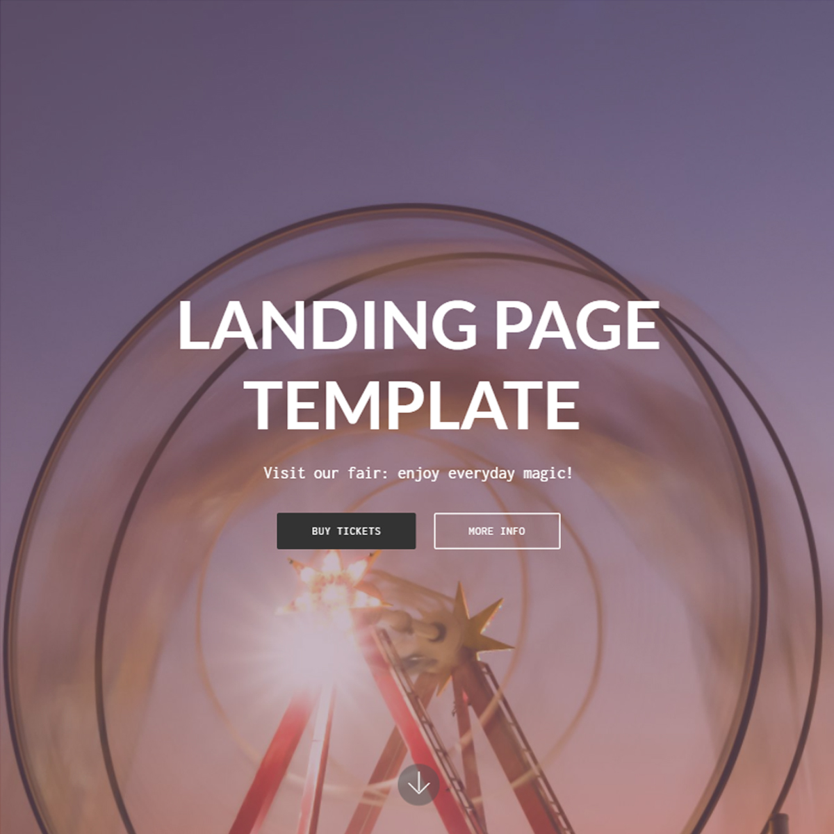 Responsive Landing Page Bootstrap Template