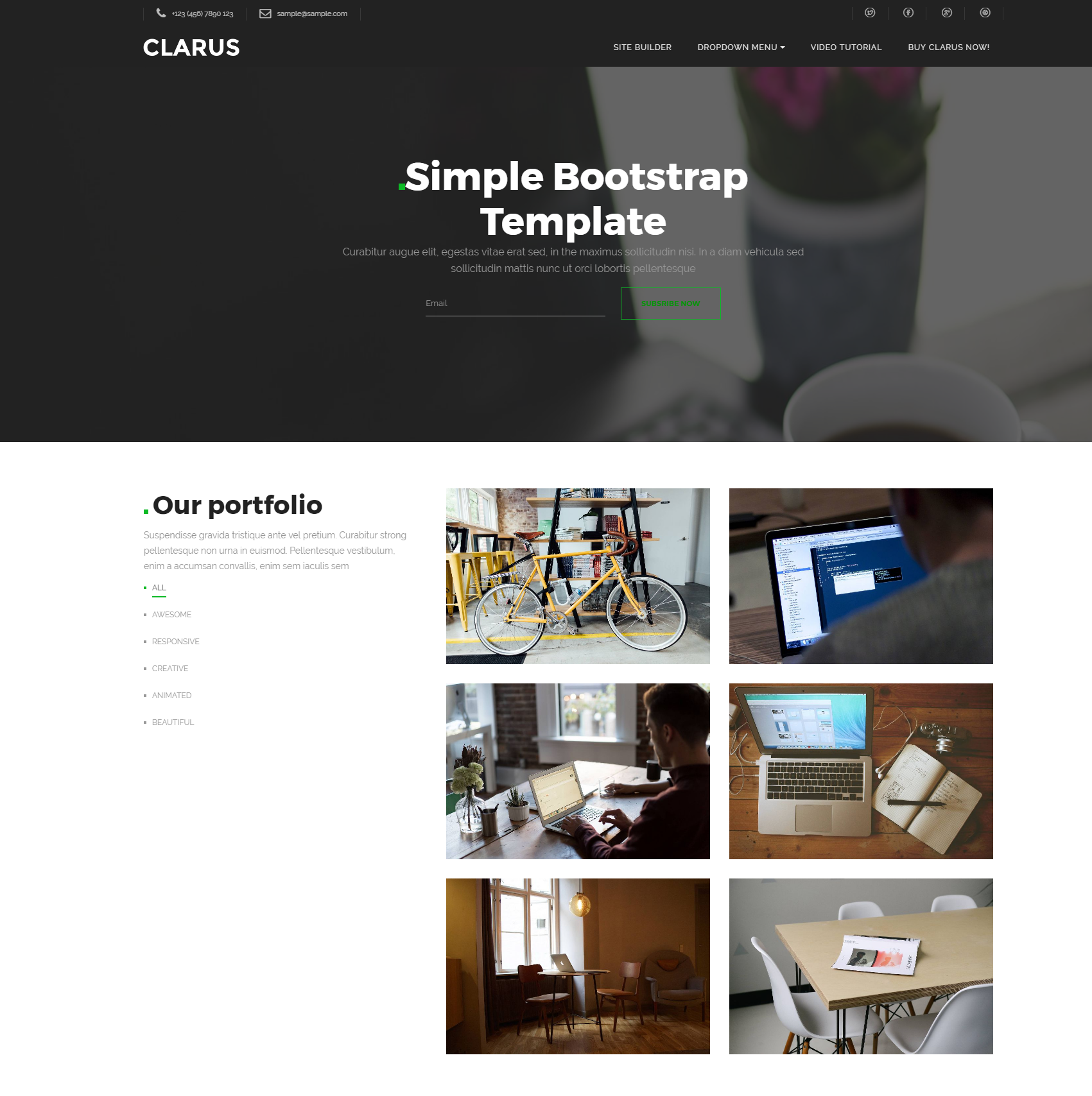 clarus bootstrap theme free template download