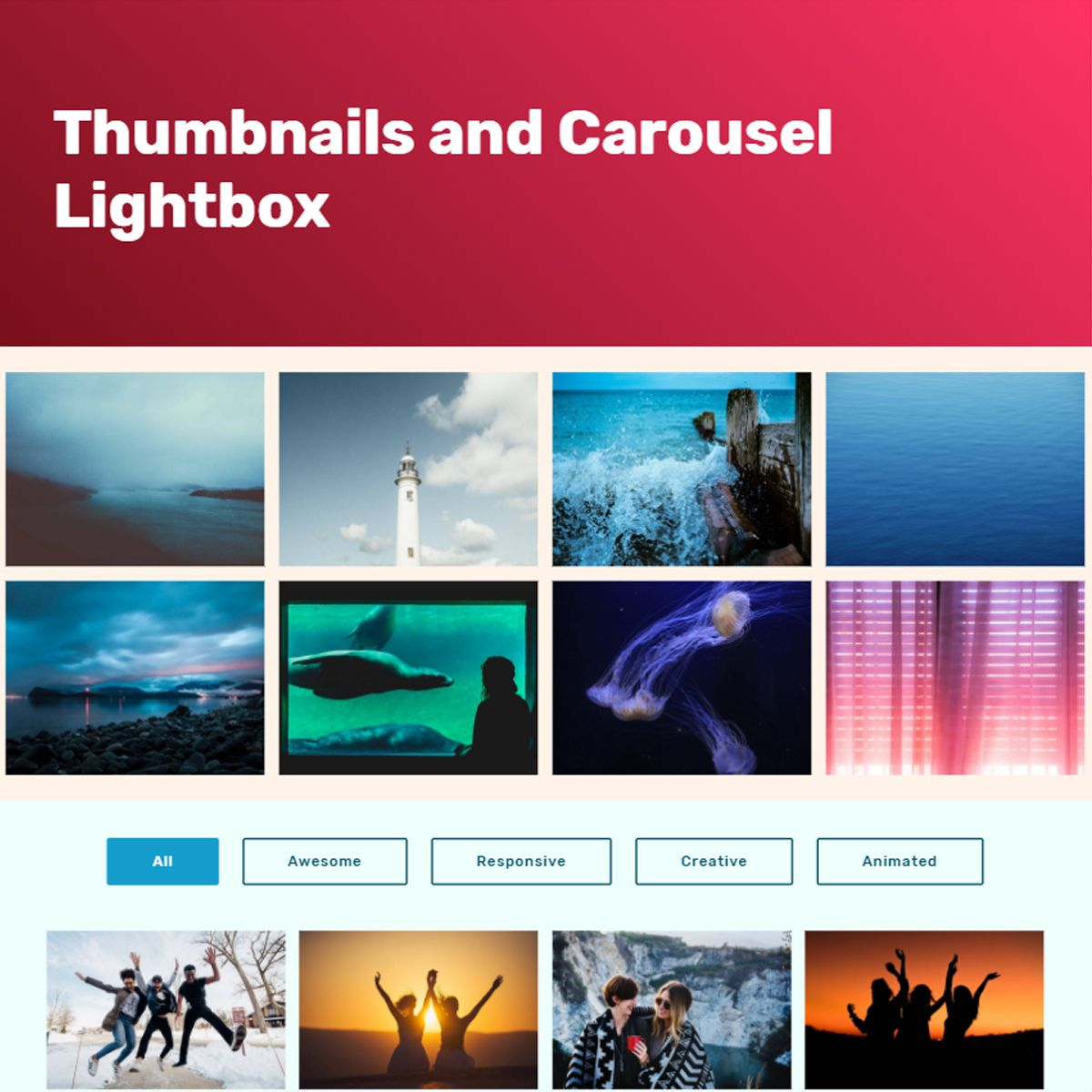 27 Stunning HTML Bootstrap Image Slideshow and Gallery Examples