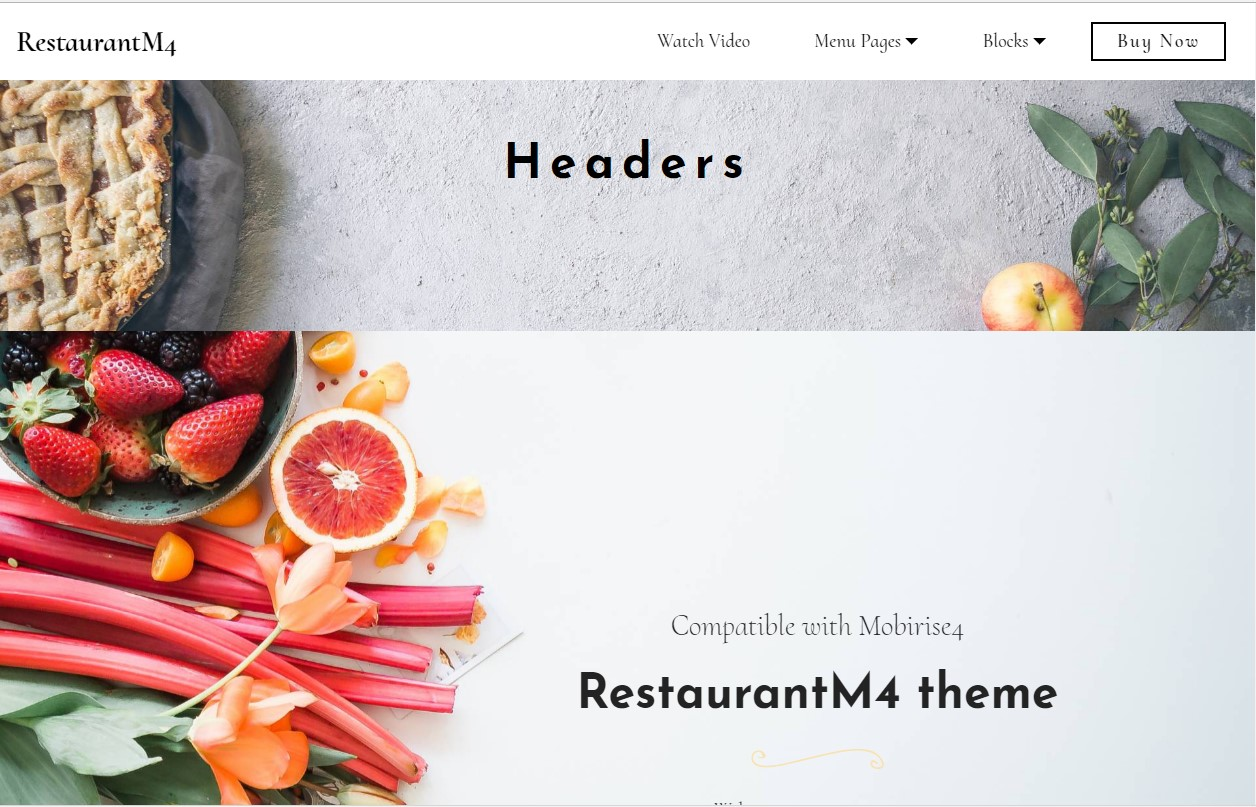 Restaurant Website Theme