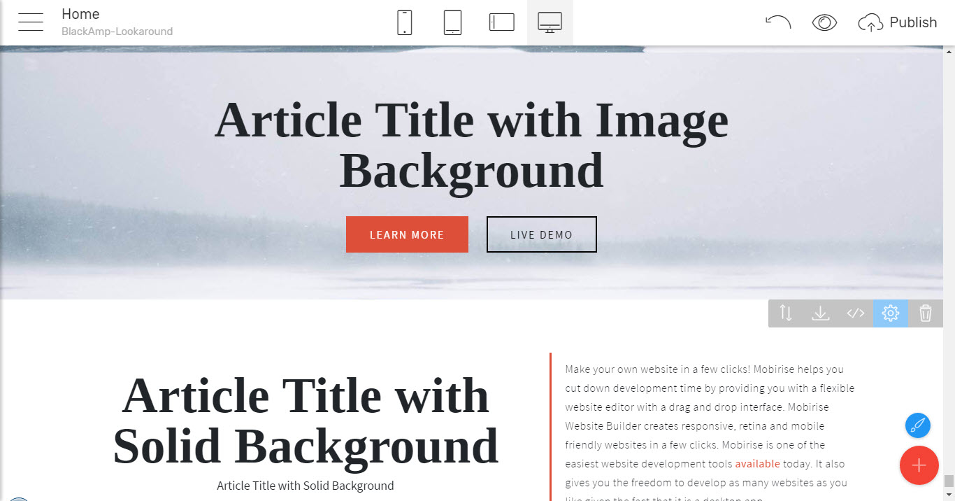 simple html theme for articles and news