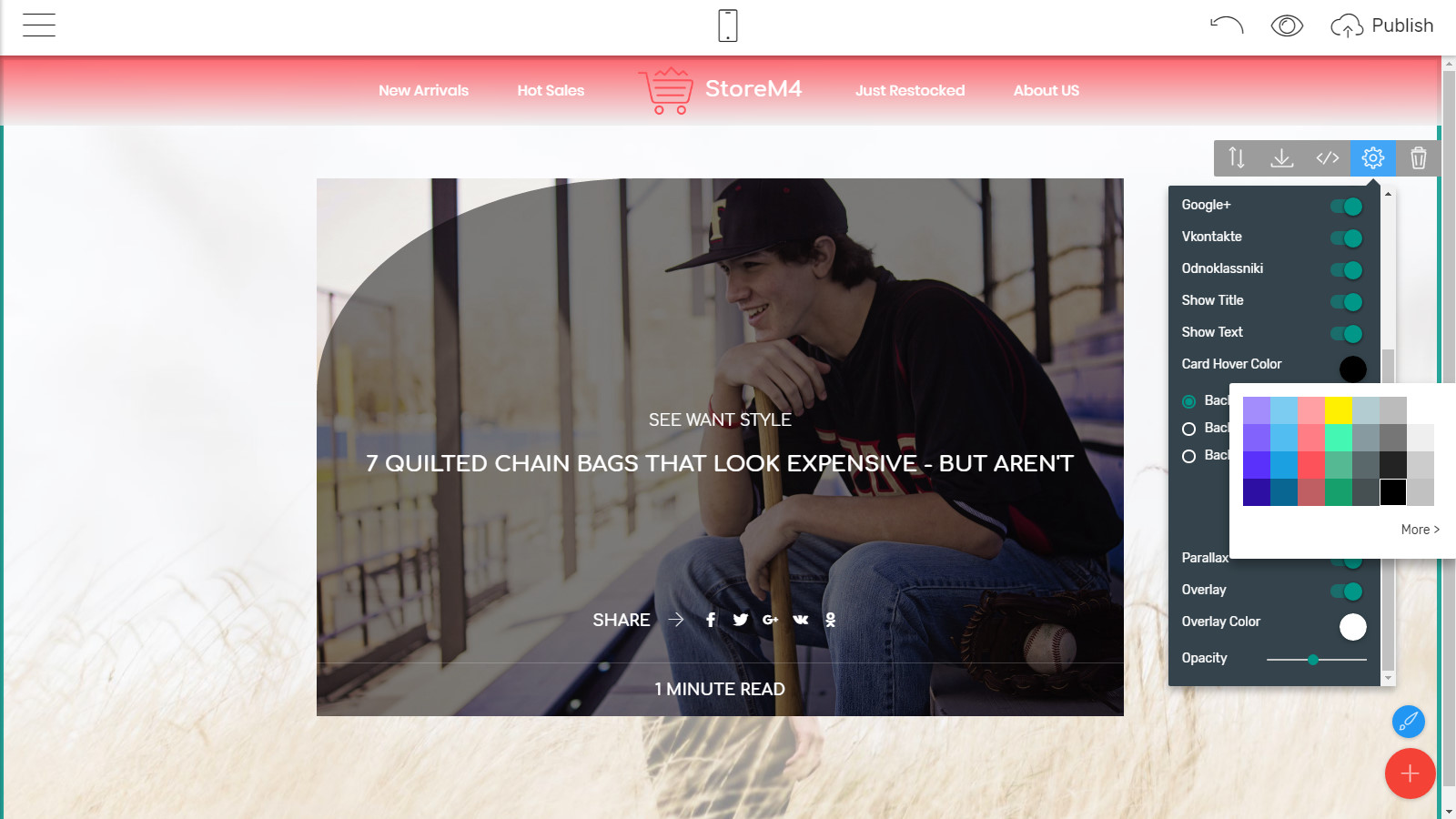 html5 store template