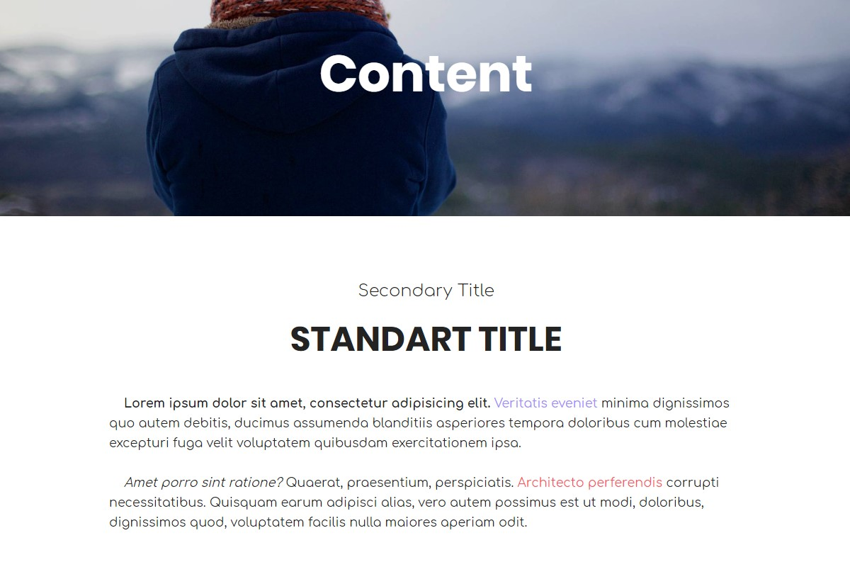 Responsive ContentHTML Template