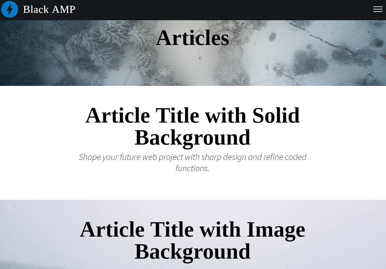 Responsive AMP HTML Articles Template