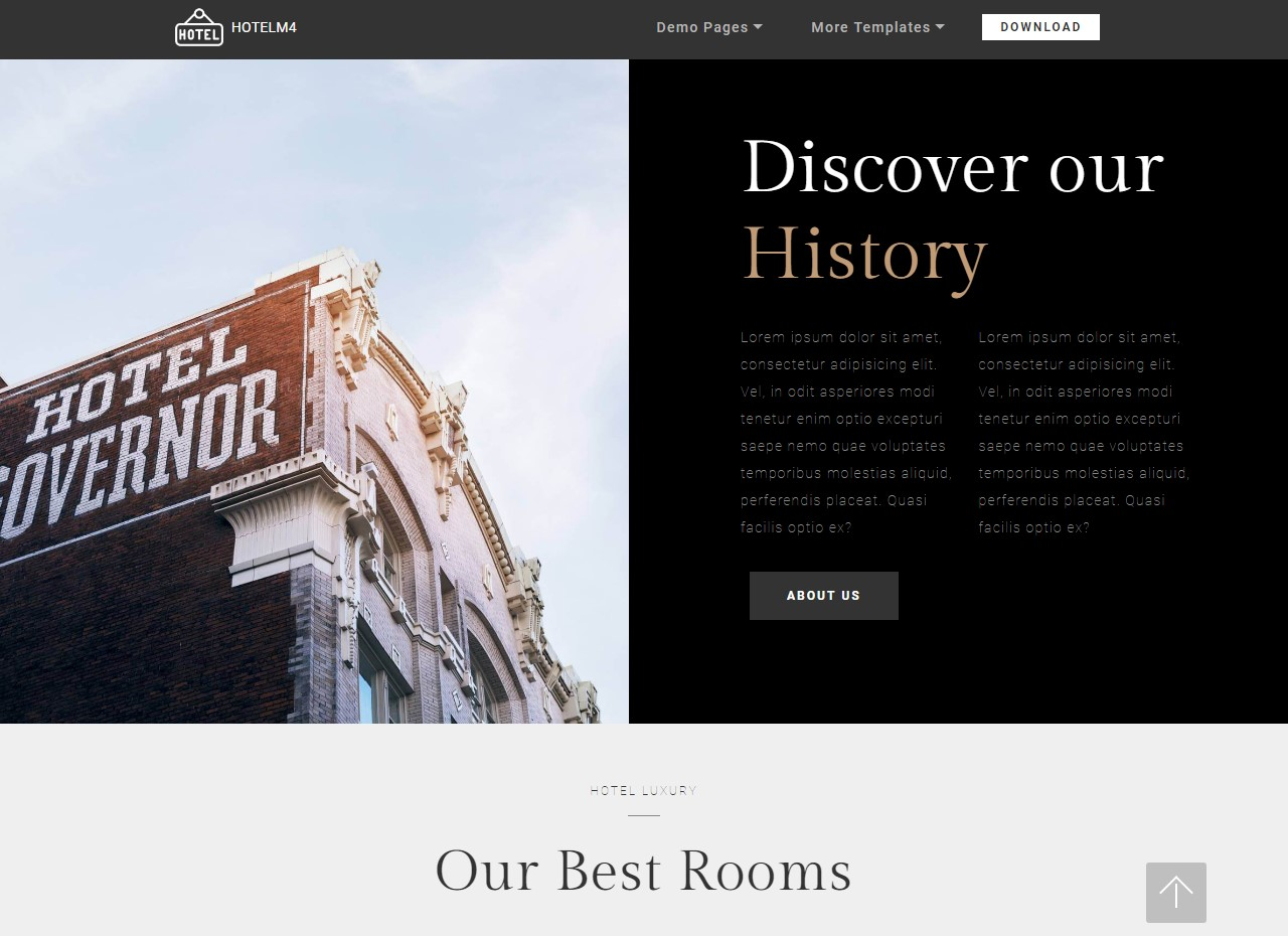 HTML5 Hotel Templates