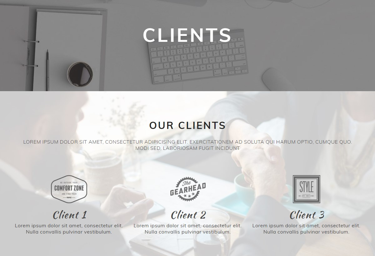 HTML Clients Template
