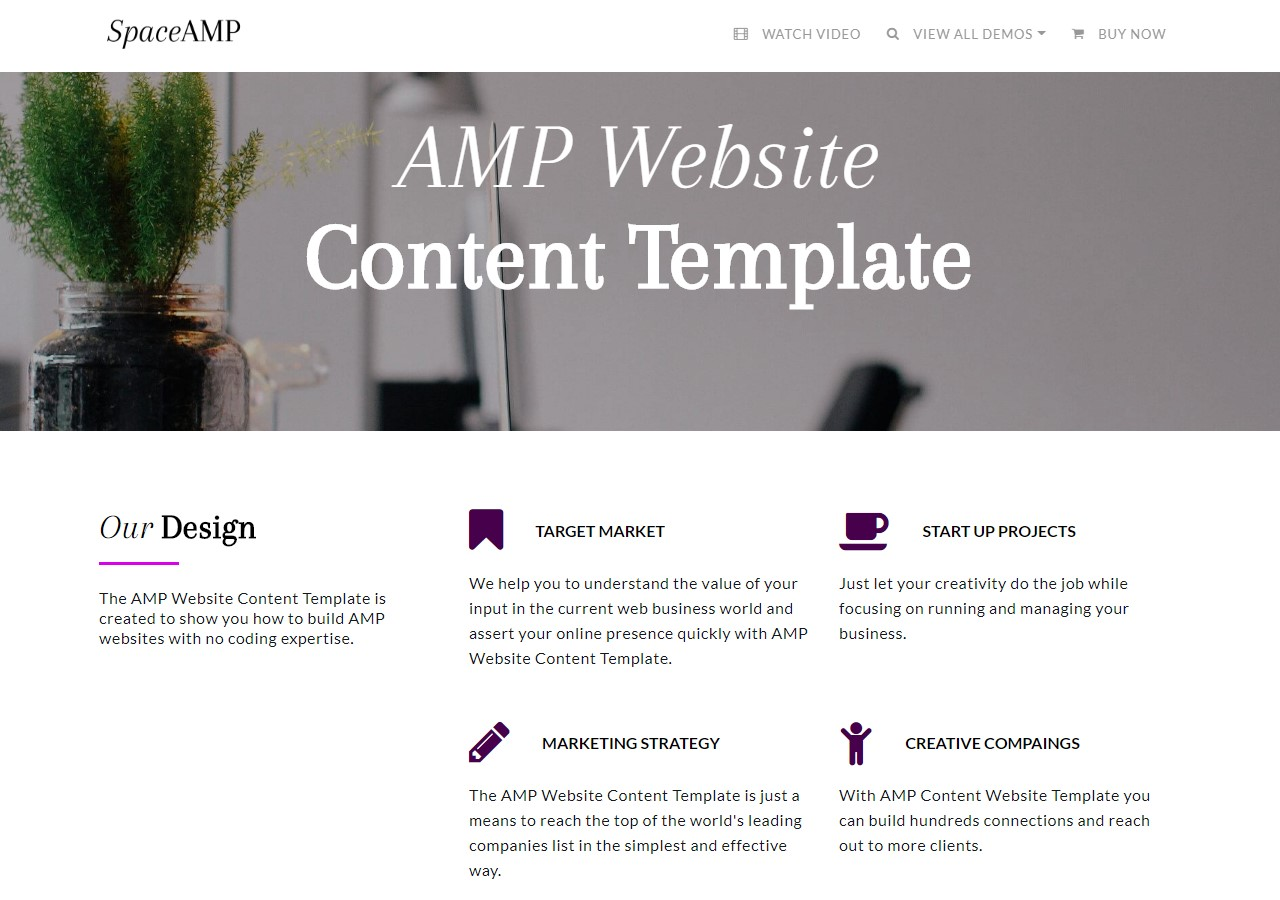 AMP Website Content Template