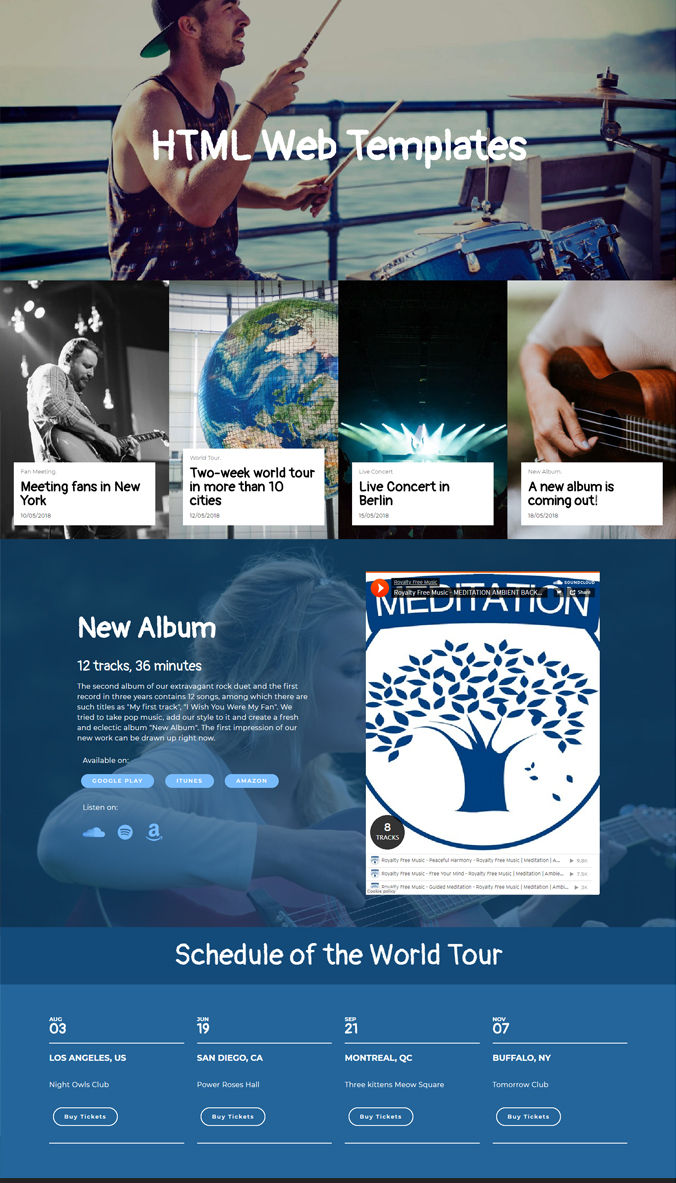 Music Website Templates