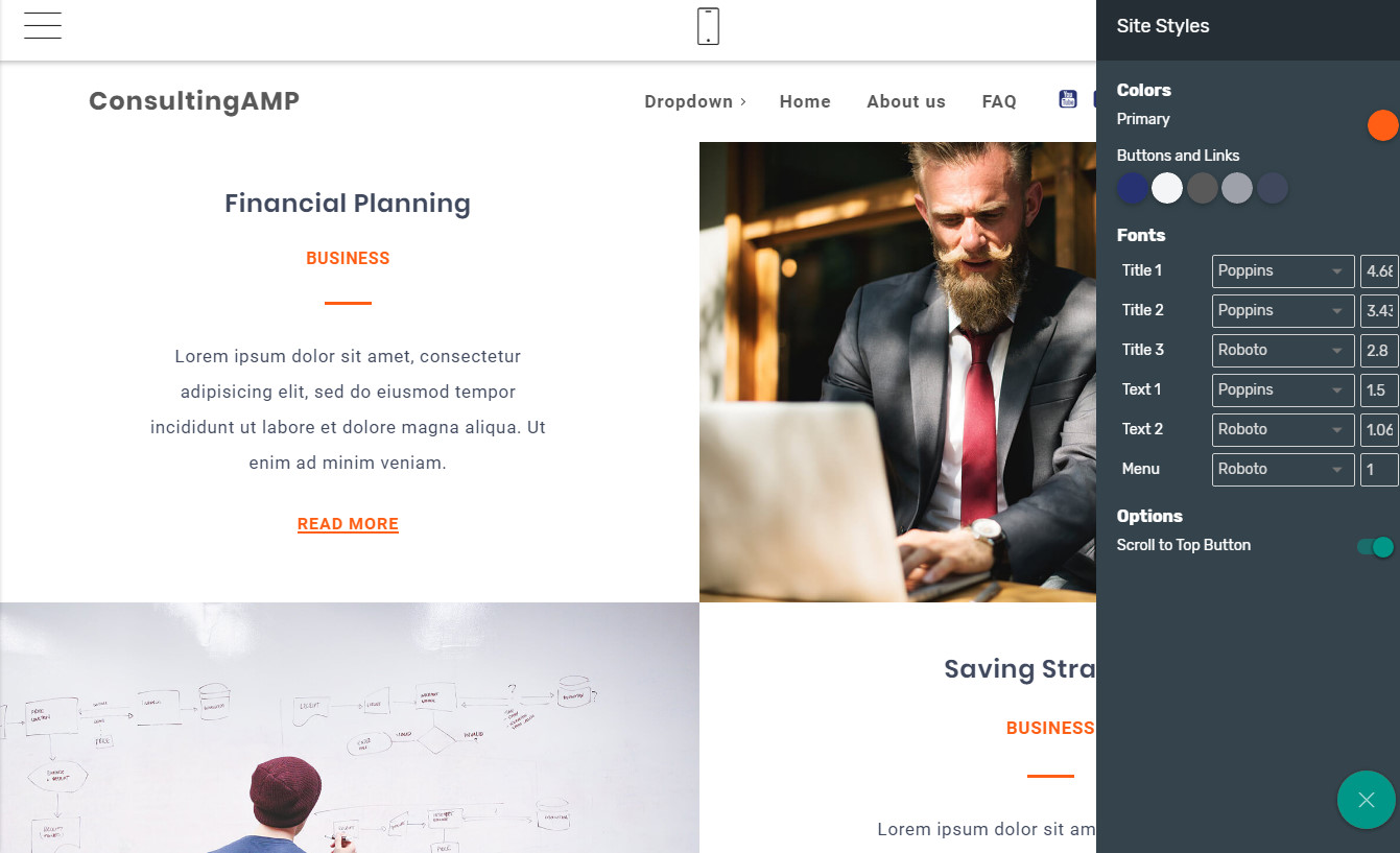 HTML Homepage templates
