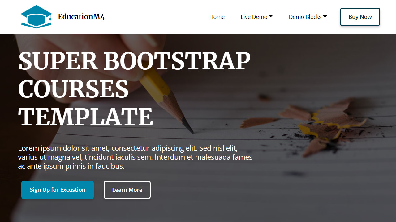 Super Bootstrap Courses Template