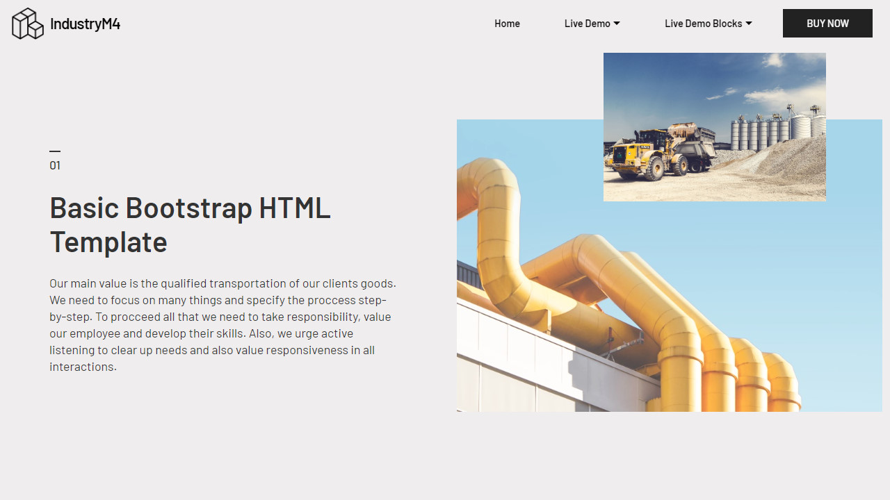 Transport Basic Bootstrap HTML Template