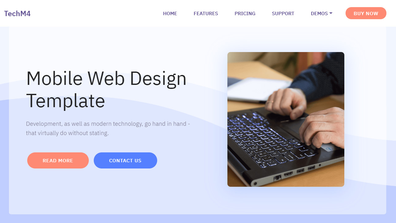 SaaS Cloud Mobile Web Design Template