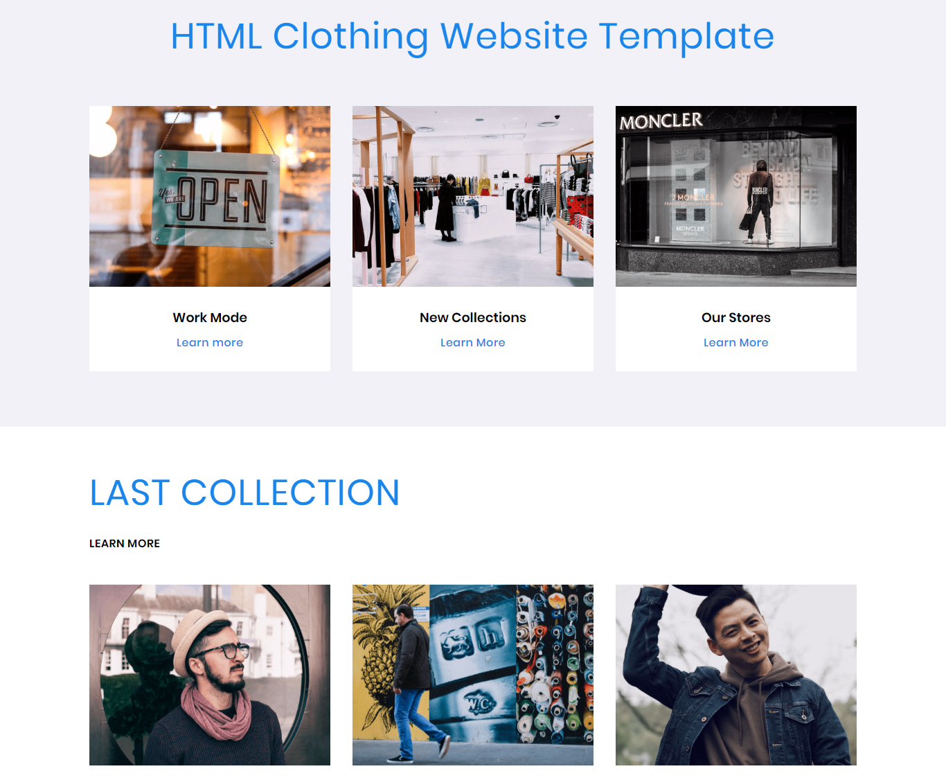 HTML Clothing Website Template