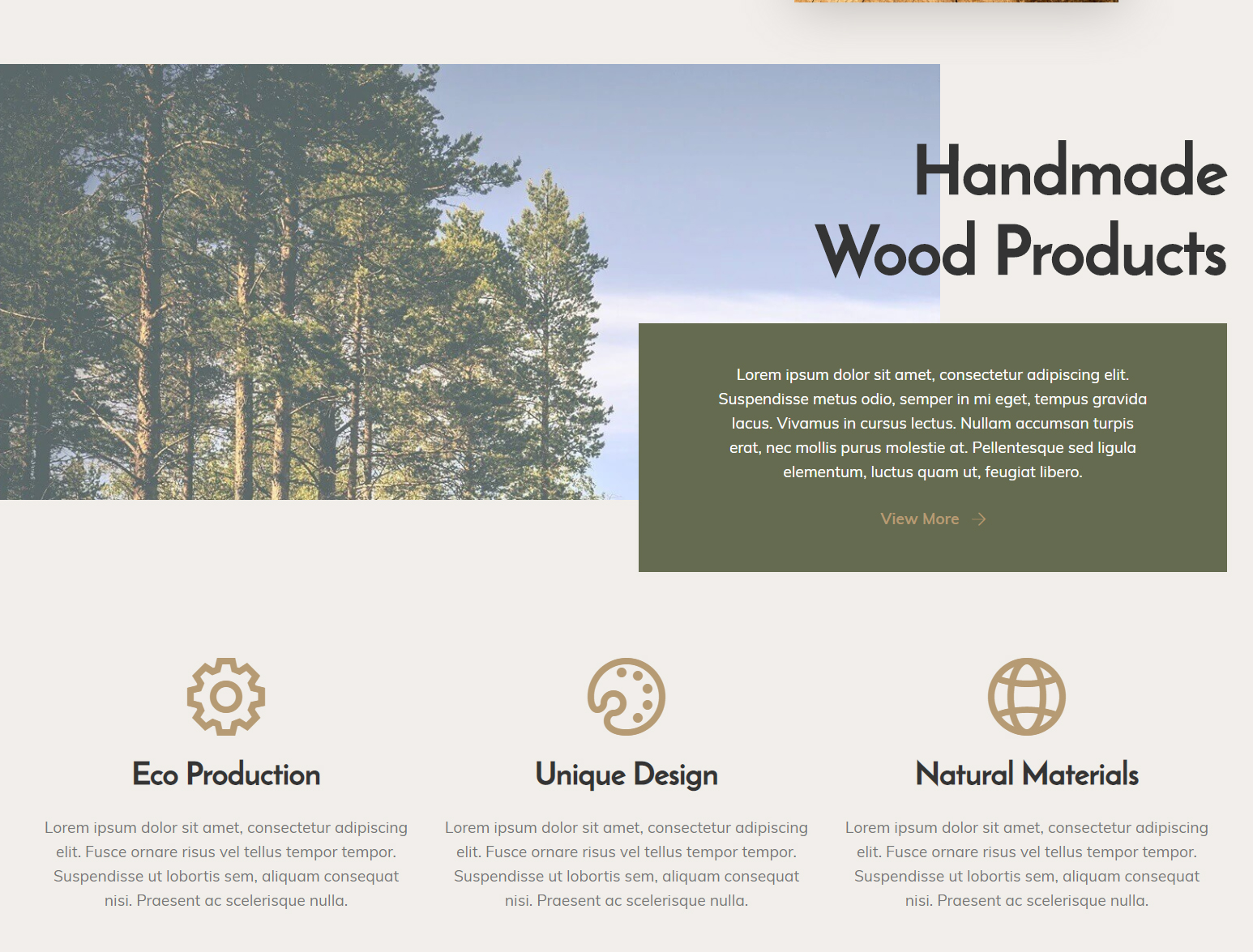 Bootstrap Wood Workshop Theme