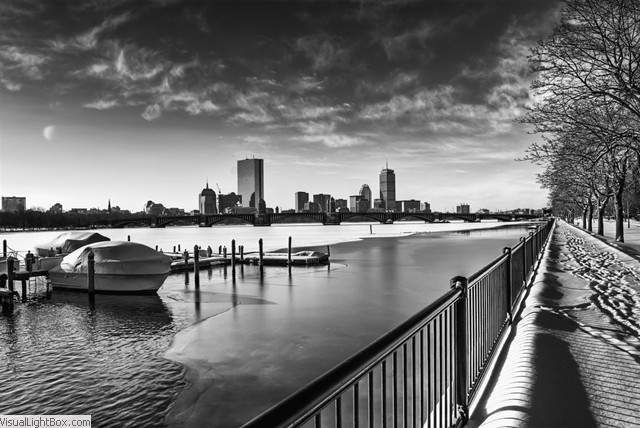 Boston black white