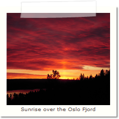 Sunrise over the Oslo Fjord