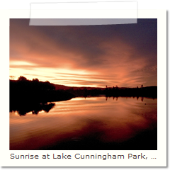 Sunrise at Lake Cunningham Park, San Jose.
