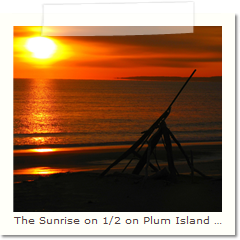 The Sunrise on 1/2 on Plum Island MA.