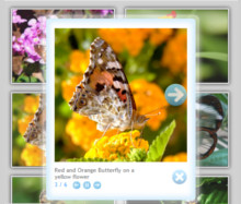 Cloud Style Gallery with images from photobucket.com website. JS jQuery LightBox