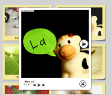 Glossy Theme with Sticky Notes thumbnails. Lightbox Photo Software.