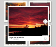 Grey Theme with Photo-style thumbnails - Lightbox Photo Album.