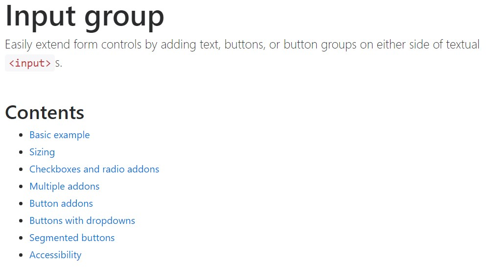 Bootstrap input  formal  information