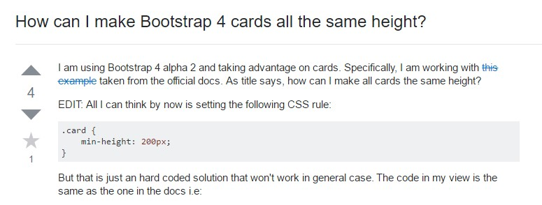 Insights on  just how can we  build Bootstrap 4 cards just the same  height?