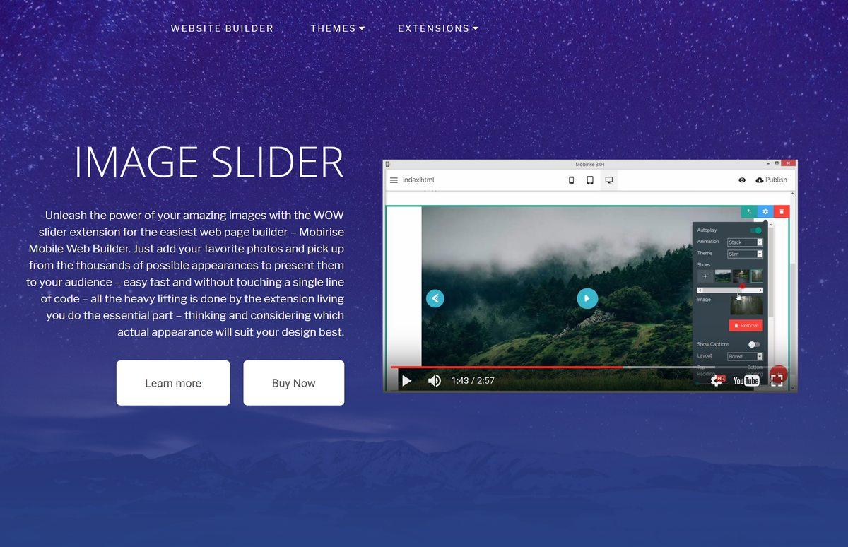 Mobile Image Slideshow and Slider