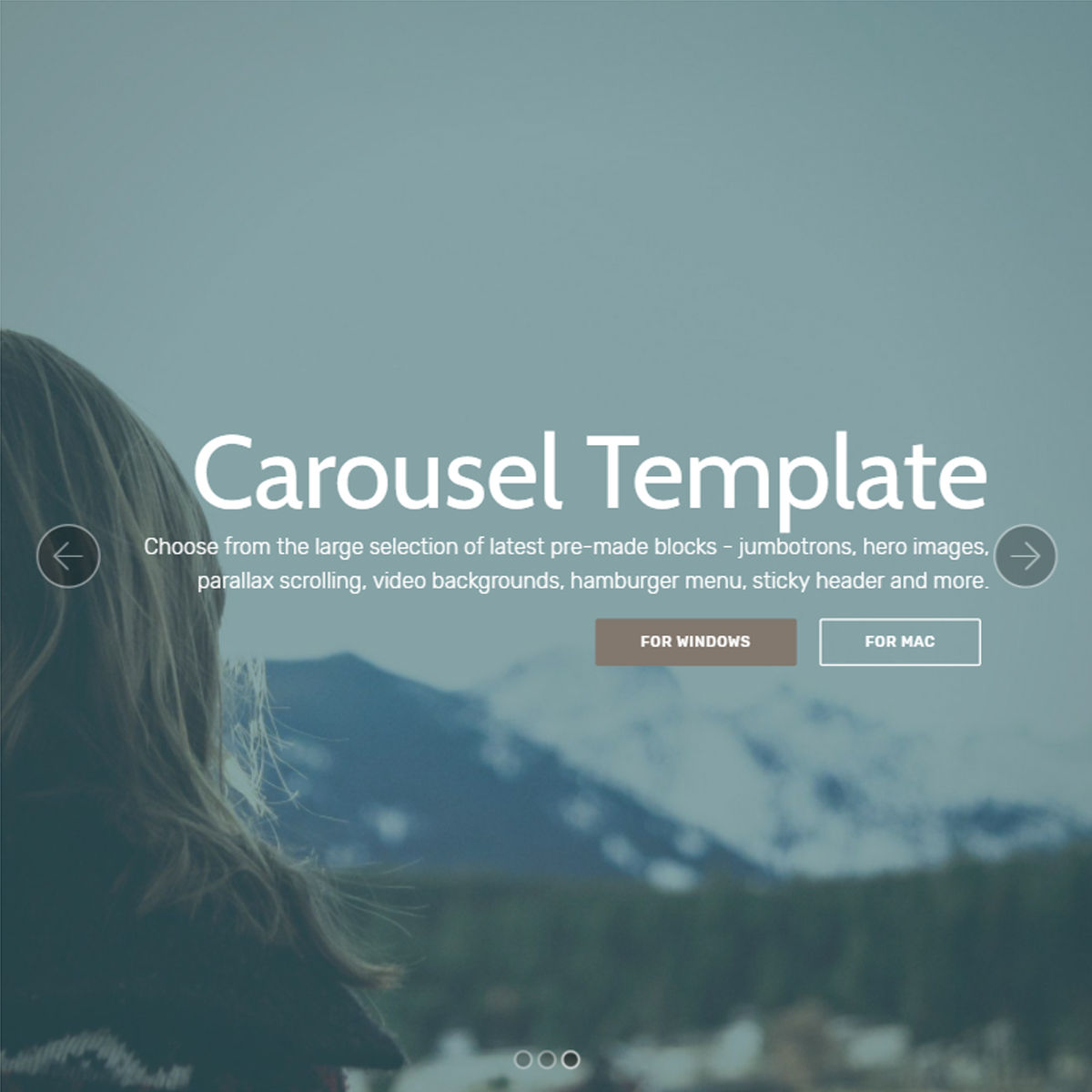 Responsive Bootstrap  carousel  Templates