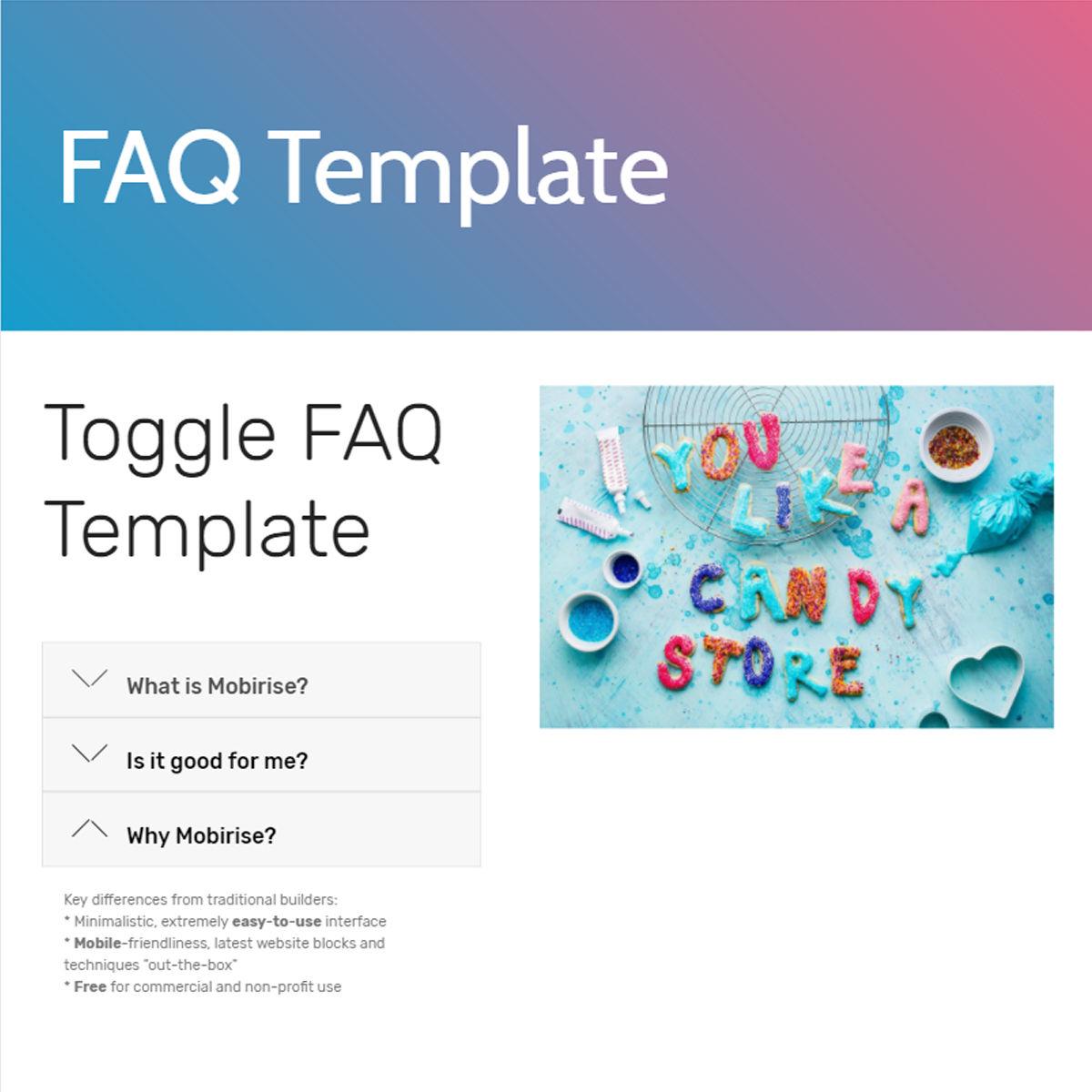 HTML5 Bootstrap  FAQ  Themes