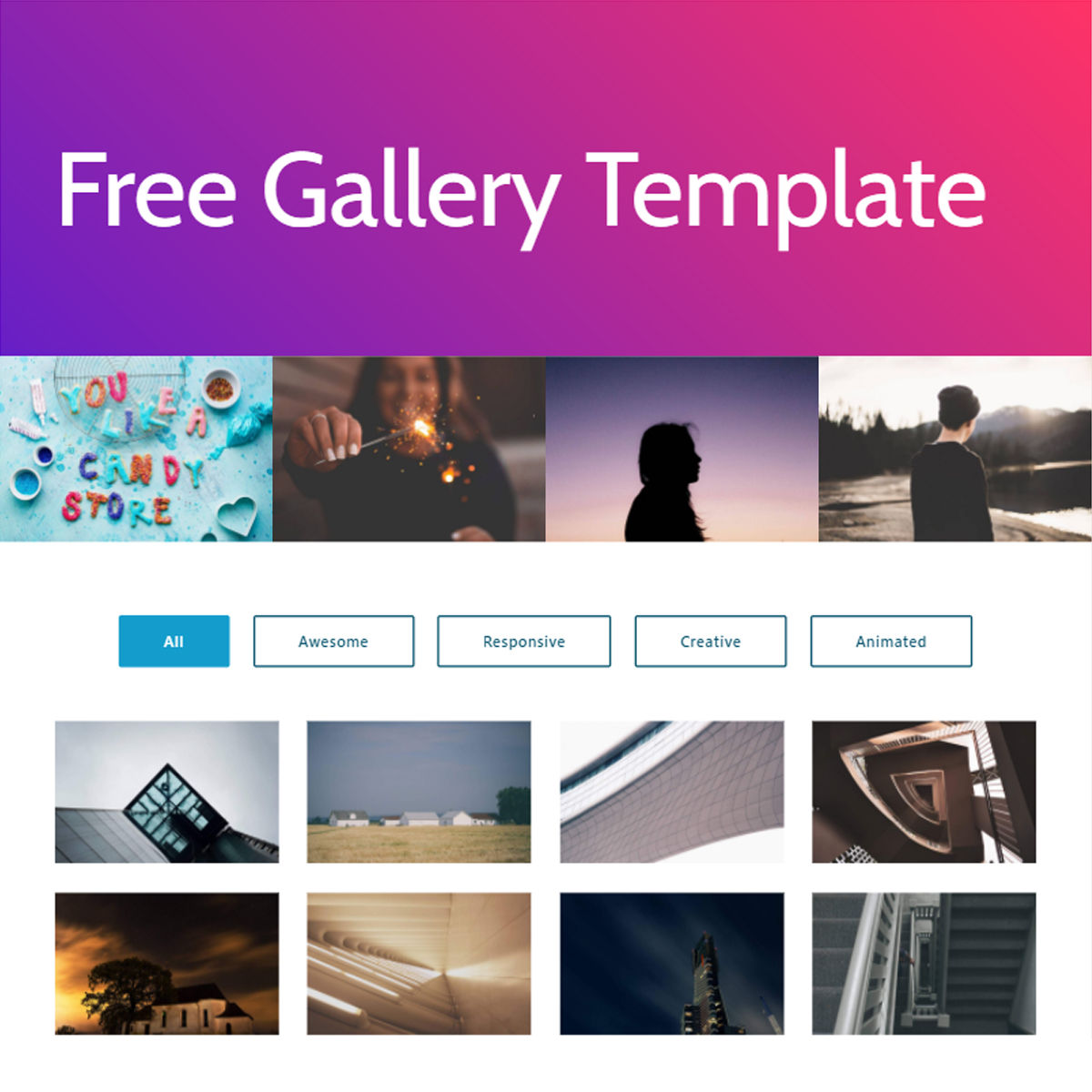 HTML5 Bootstrap  Gallery  Templates