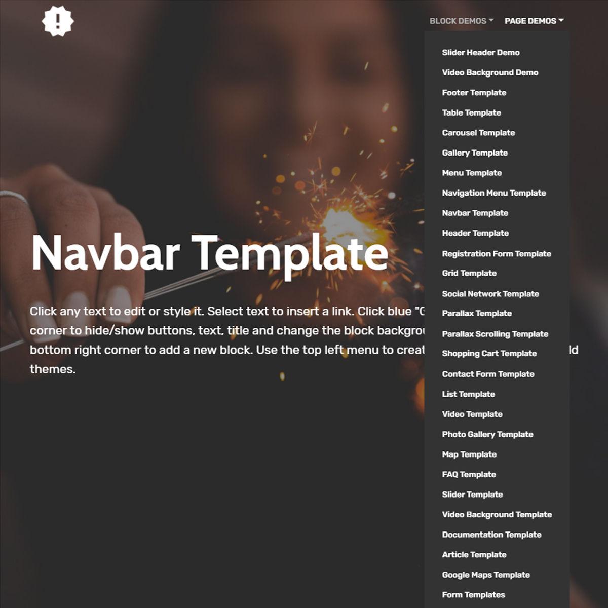 Responsive Bootstrap  Navbar  Templates