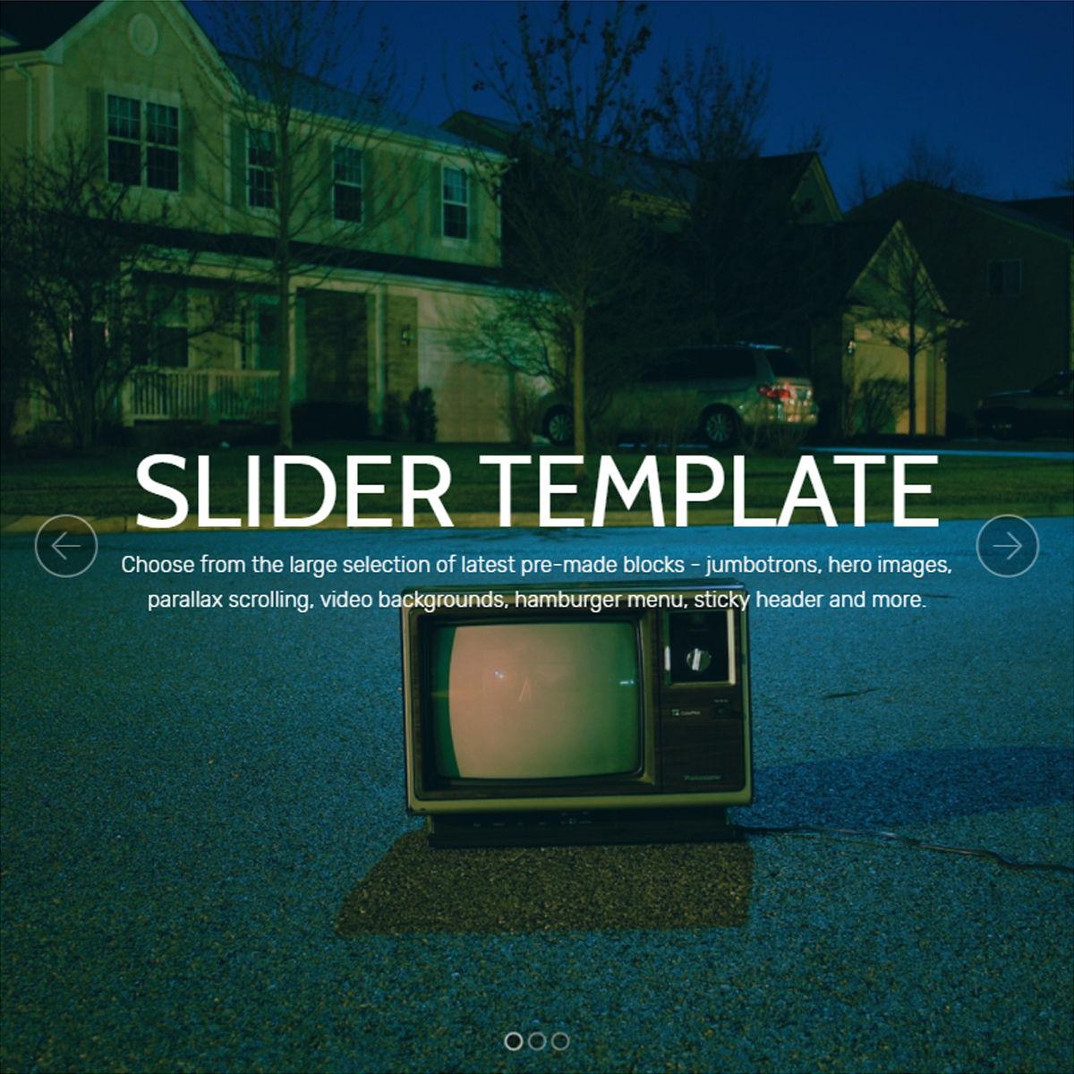 HTML Bootstrap  Slider  Templates