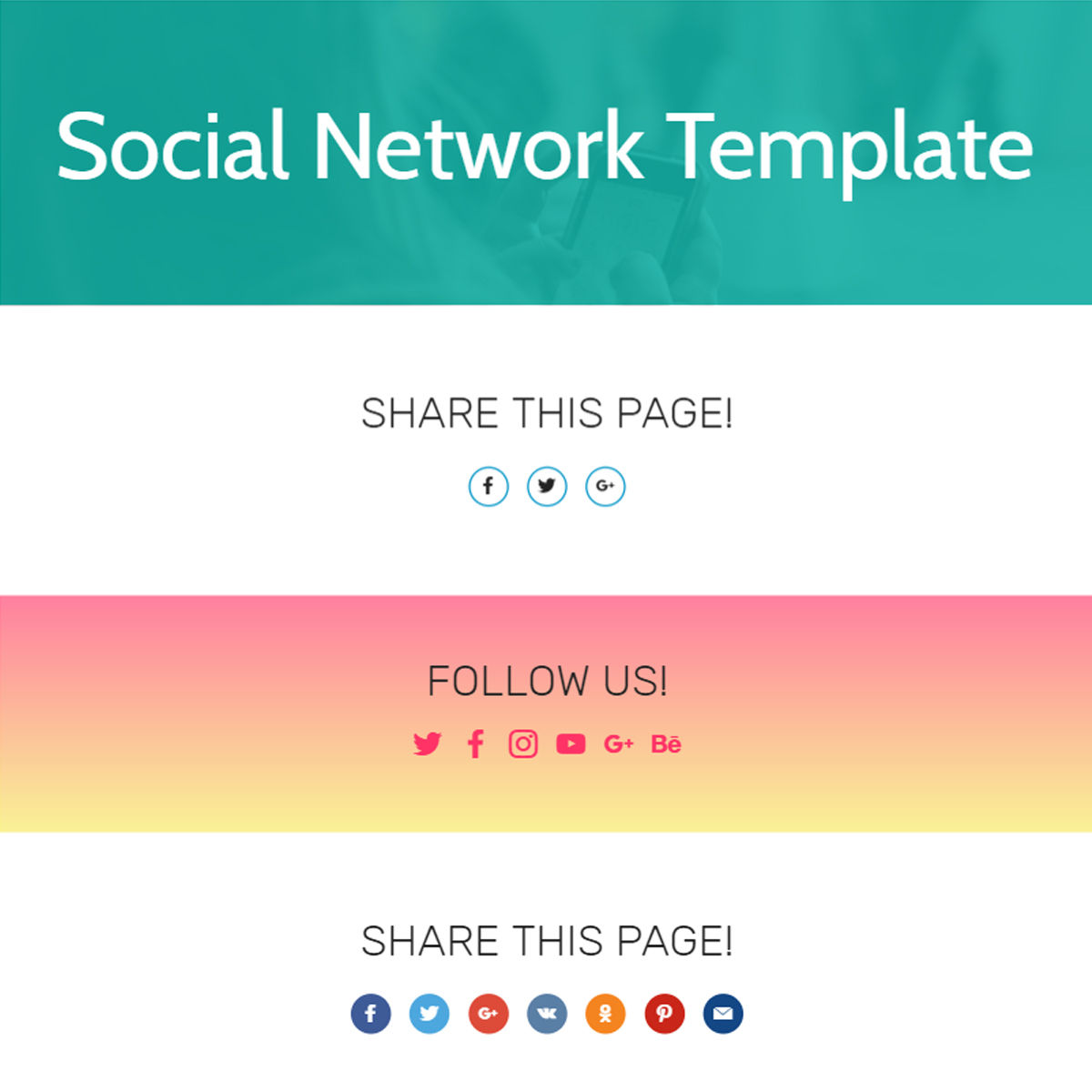 Responsive Bootstrap  Social Network  Templates