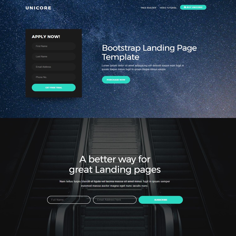 Unicore Bootstrap theme