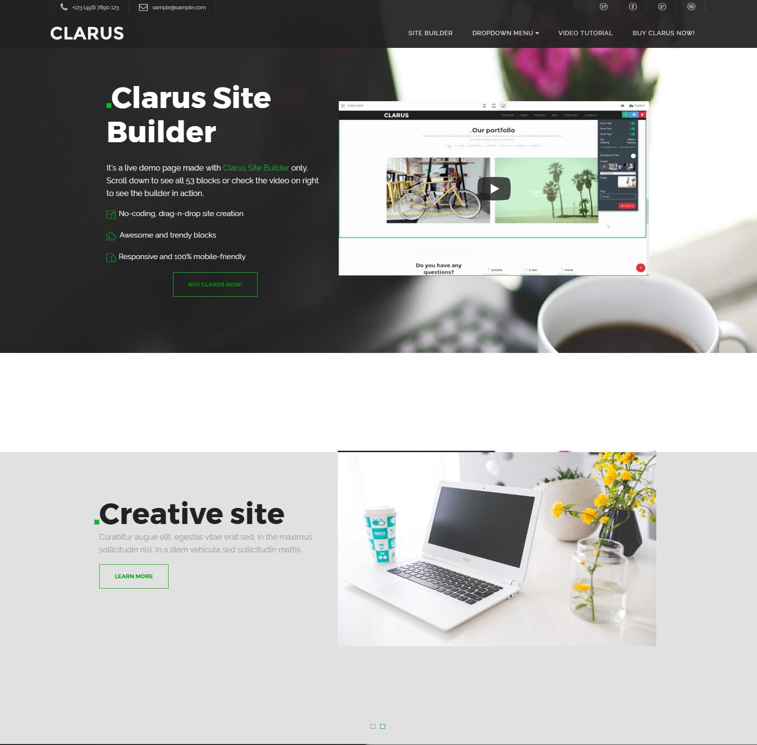 Clarus Site Bootstrap Builder