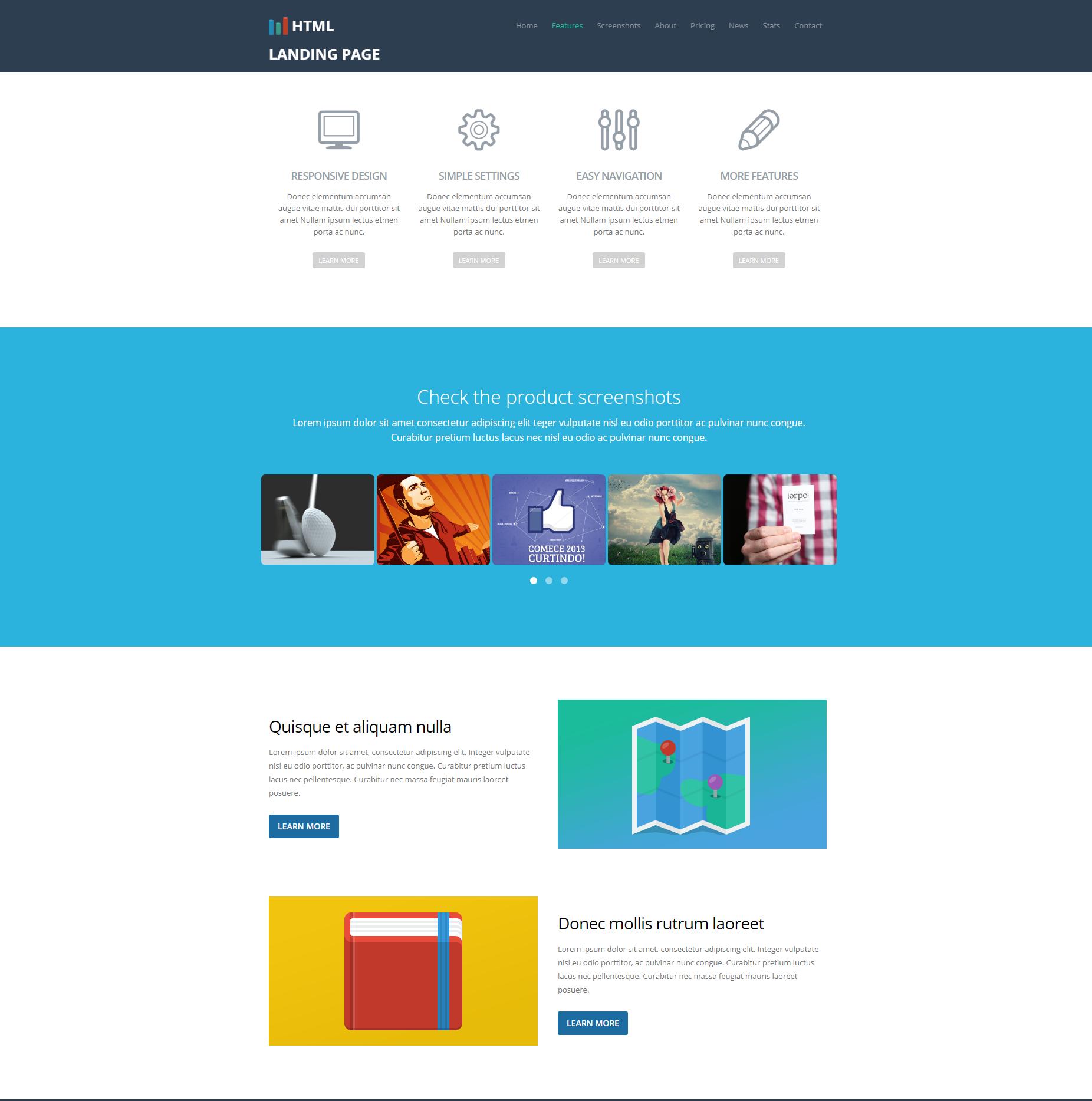 Multi-purpose Landing Bootstrap Page