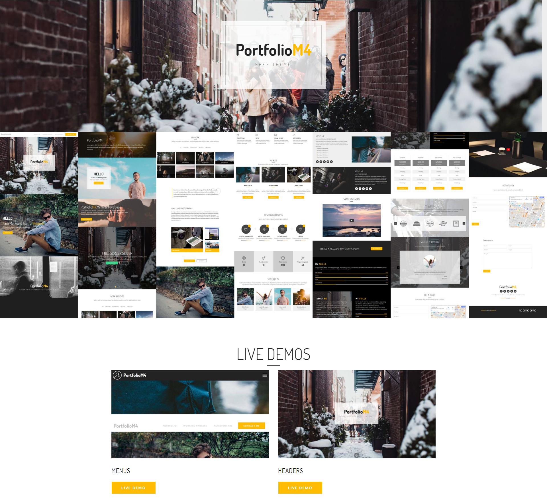 PortfolioM4 Free Bootstrap Theme