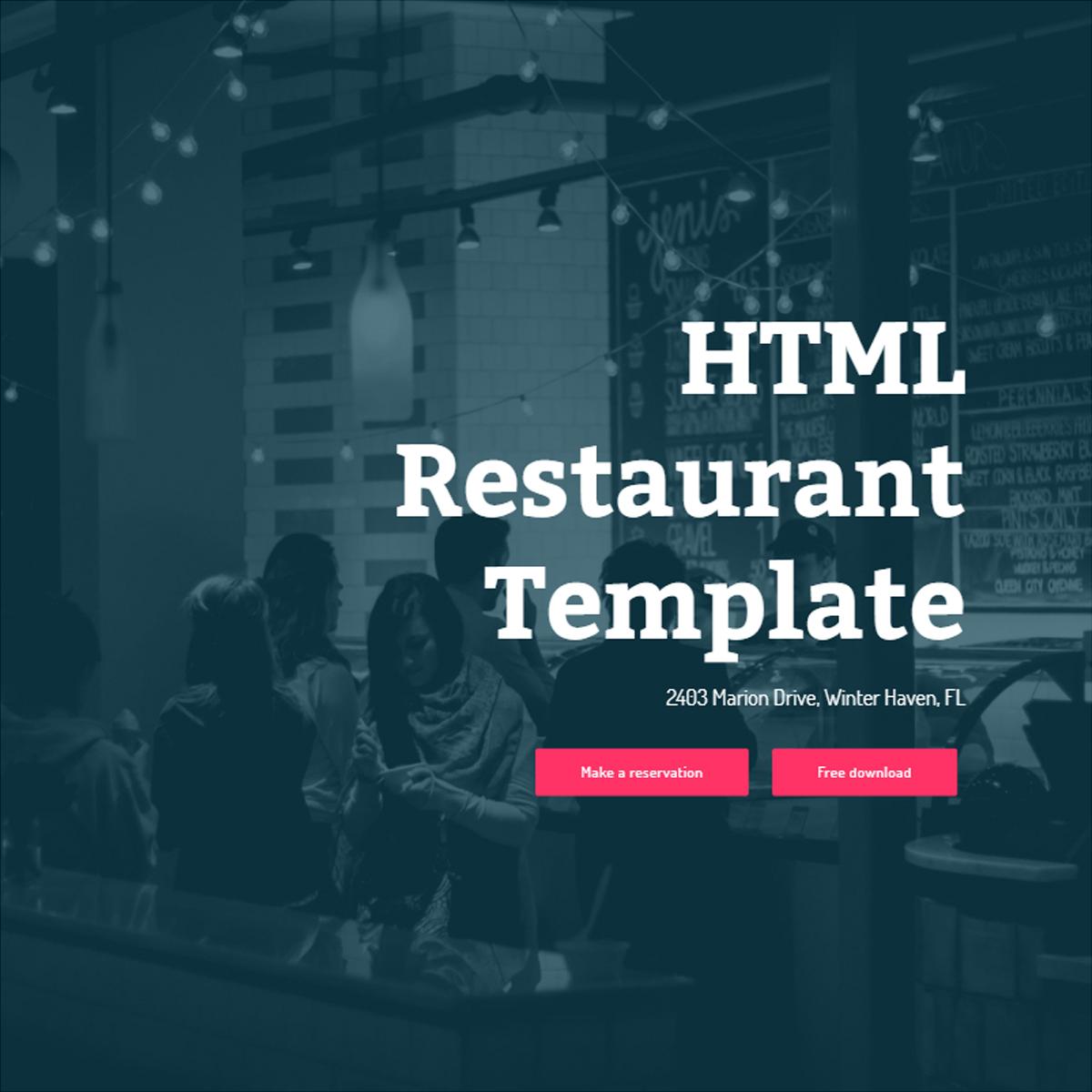 HTML Restaurant Bootstrap Template